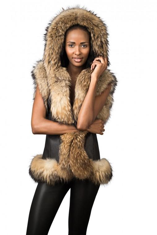 Rabbit/Racoon Hood Waistcoat