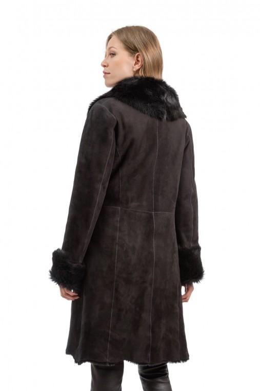 ¾ Length Wrap Sheepskin Coat