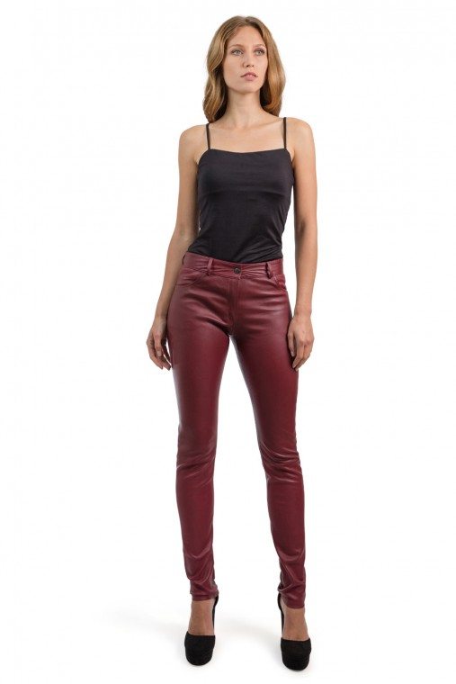 Jeans-Style Leather Trousers