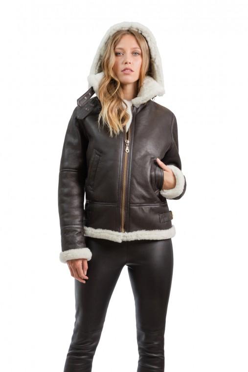 Hooded Sheepskin Jacket