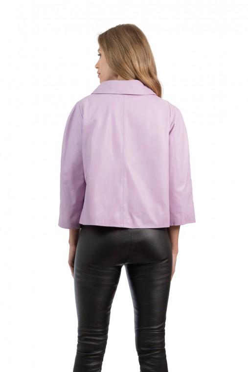 ¾  Sleeve Length Leather Jacket