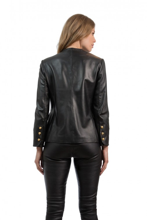 Stylish Long Leather Jacket